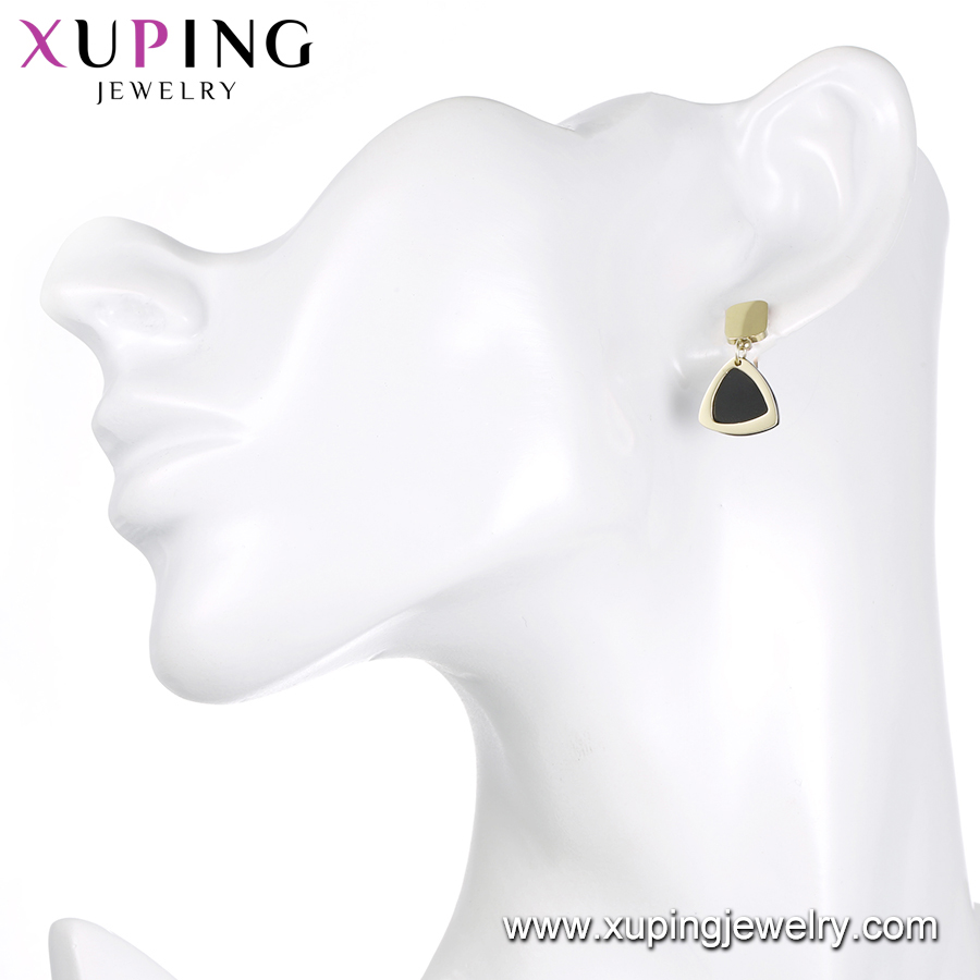 earring-170 XUPING gold plated asymmetric pendant earring models for ladies
