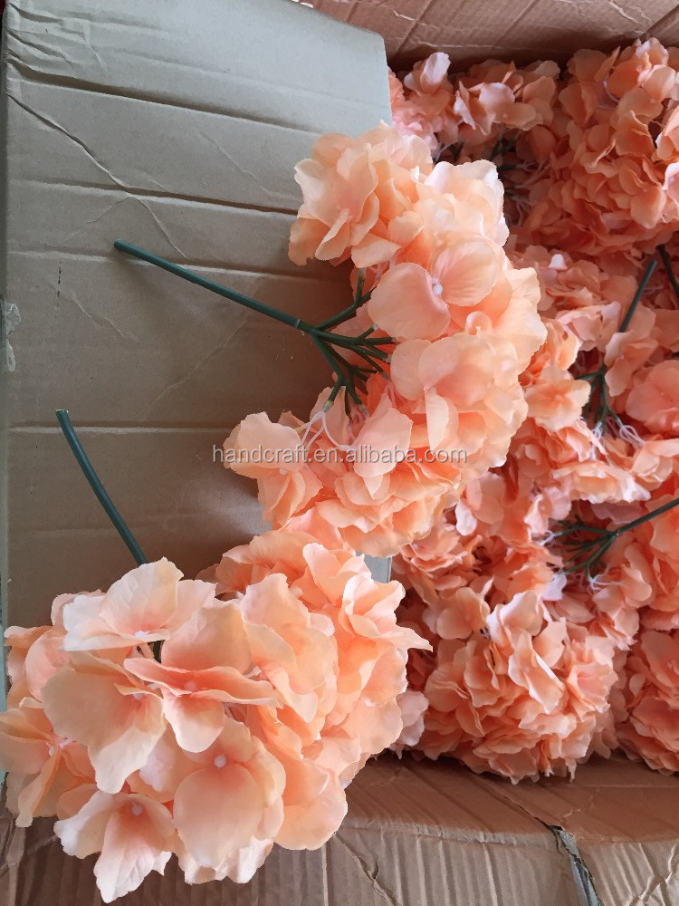 artificial orangea hydrangea for holiday party favors wedding