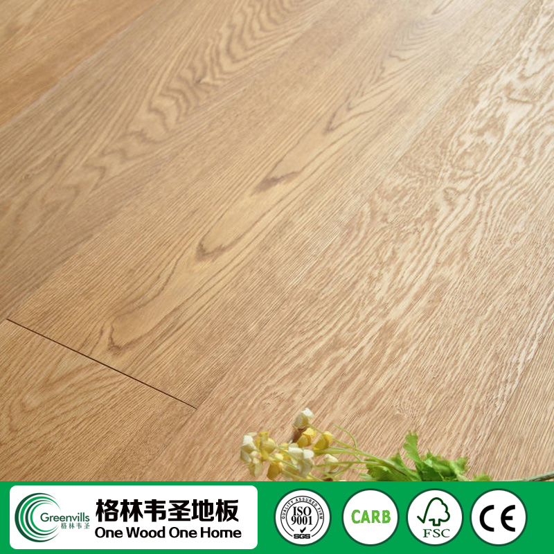 click lock hot selling 3-layer/multi-layer russia oak parquet wood flooring prices Manufacturer