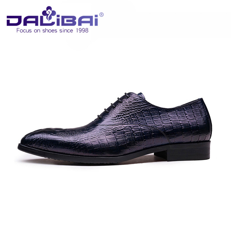 with Crocodile Genuine Patten Leather Black Shoes xqBw1Tn