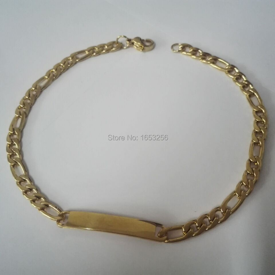 Thin Gold Chain Bracelet: Wholesale Price 5pcs Lot Gold Plated Stainless Steel