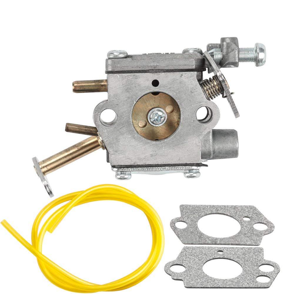Dalom 300981002 Carburetor with Fuel Line Gasket for Homelite UT-10532 UT-10926 PS33 D3300 Ryobi RY74003D 33cc Chain Saw