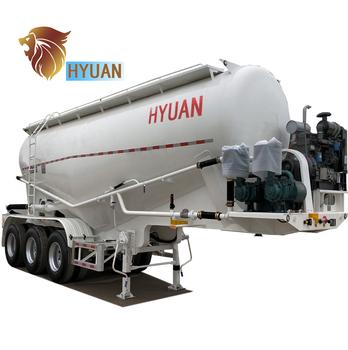 Hyuan 3 Axles Bulk Cement Tanker Semi Trailer Tank Type