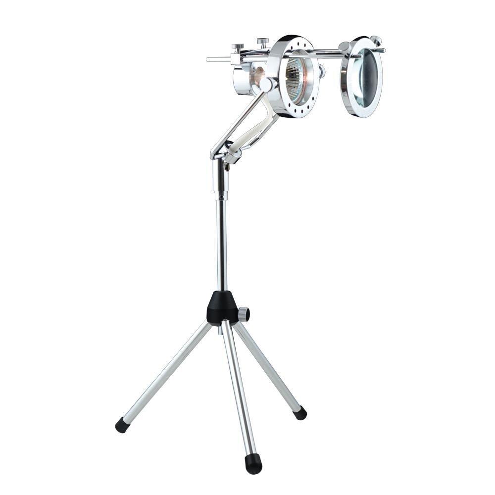 "JESCO Lighting SPT106ML-CH Magnifying Lens and Frame Accessory Only, For SPT 106 (sold separately) - Lens: 2-5/8""Ø,Stem: 6-1/8""L"