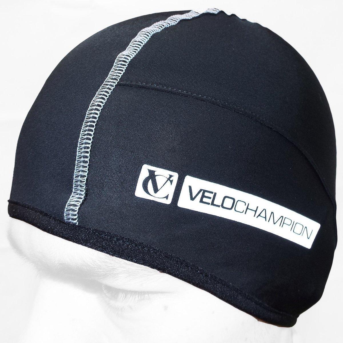 2f4fc9bf6b7 Get Quotations · VeloChampion Thermo Tech Cycling Skull Cap - Under Helmet  Hat - Black