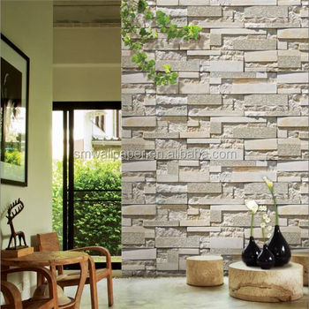 3d stone white brick wallpaper pvc vinyl made wall paper wall