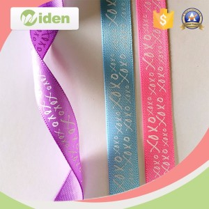 New design wholesale custom printed silk ribbon michaels ribbon