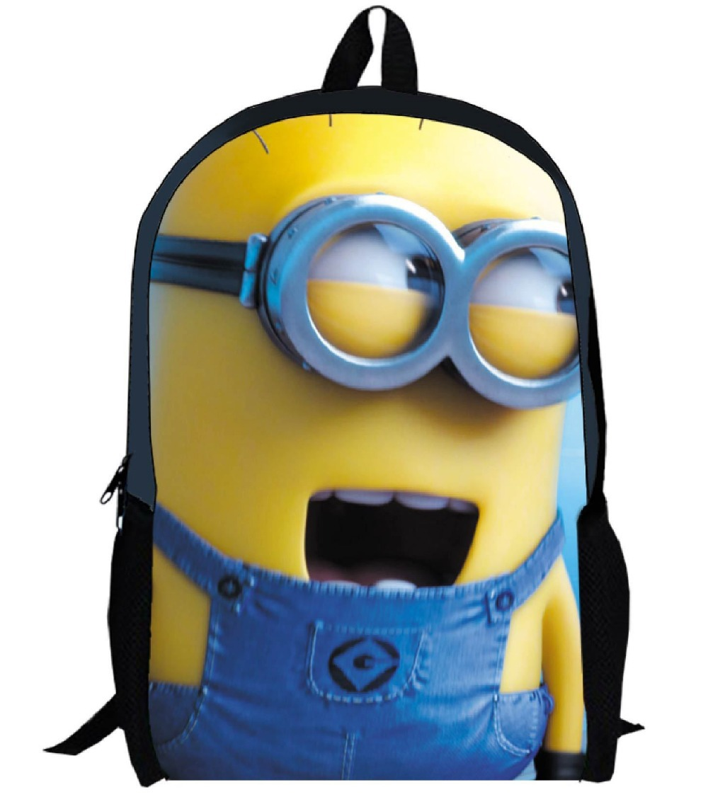 d4f4abdd427e Buy 2015 HOT sale 3D Minions backpacks for boys,fashion children ...