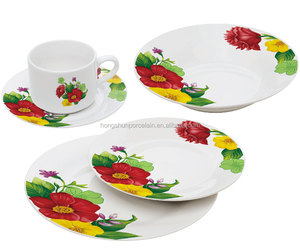 Alibaba Express in Spanish 30pcs Mexican Tableware Inexpensive China Dinnerware