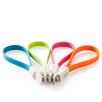 Tangle-Free Flat noodle micro USB 2.0 charger cable with Magnetic USB charging power cable for Samsung HTC Android mobile