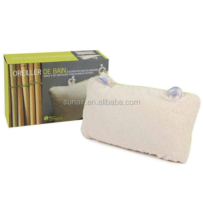 Wholesale Cheap Home Waterproof Luxurious Fleece Bath Pillow