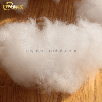 0.9D*64mm microfiber Solid recycled polyester fiber/15DX64MM hollow conjugated siliconized polyester