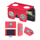 OEM Gift Travel suitable red color ABS cheap smart rectangle foldable cell phone 3D Virtual reality Video HD player glasses