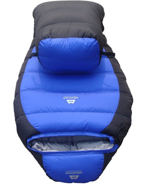 -25 Degree Sleeping Bag Mummy Bag 2.3 KG White Dock Down Winter Thickening Bag    Freeshipping  by EMS !