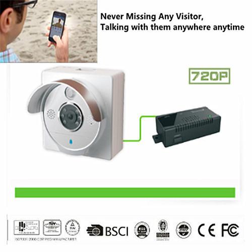 wifi poe t r kamera ir hd 720p intercom t rklingel 2 wege. Black Bedroom Furniture Sets. Home Design Ideas
