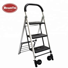 3 stap <span class=keywords><strong>ladder</strong></span> aluminium vouwen zware <span class=keywords><strong>auto</strong></span> 175 lbs hand truck dolly met 2 wiel