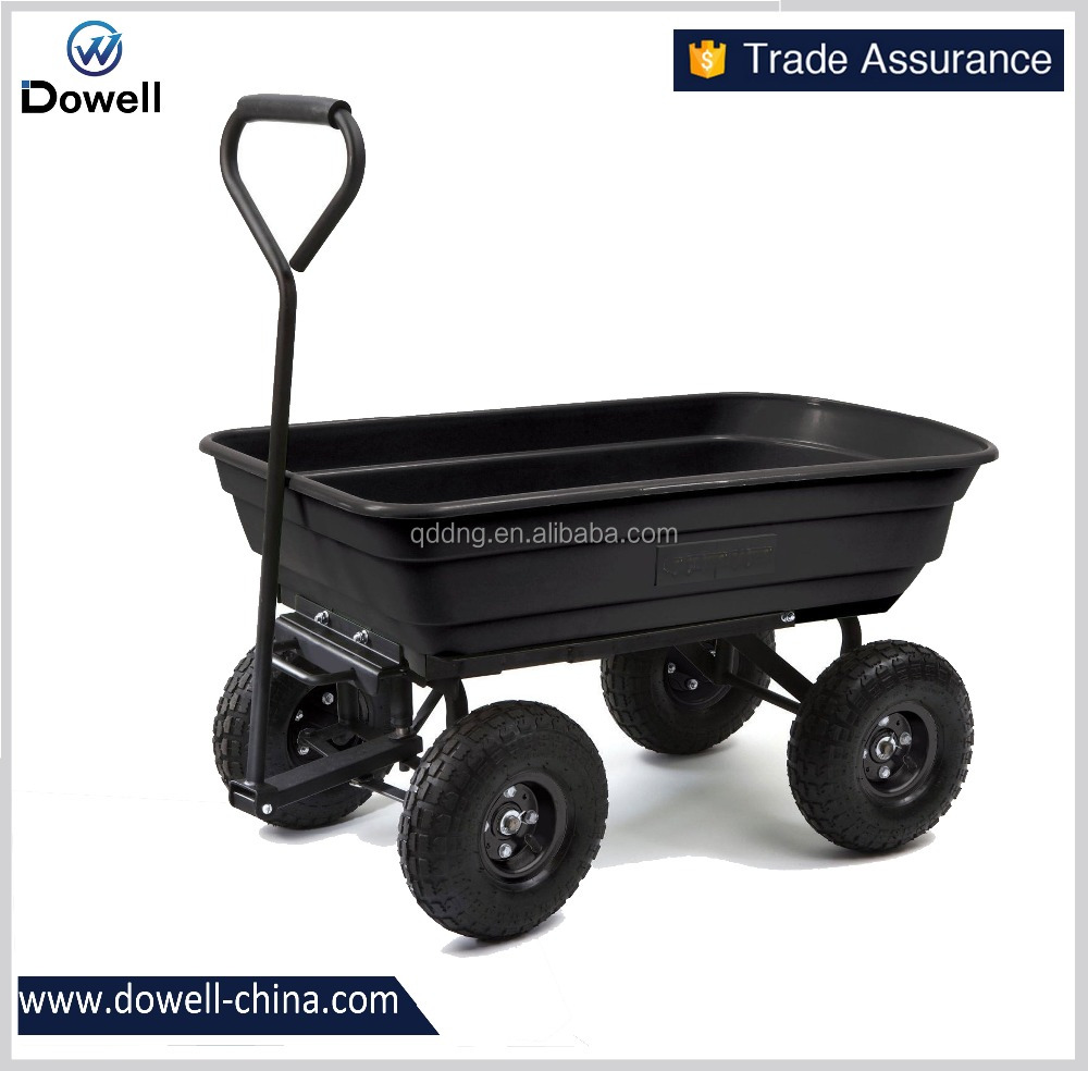 Utility Heavy Duty Garden Dump Cart Handle Wheelbarrow Yard Garden Tool Wagon
