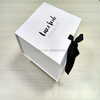 Luxury Gift Box Jewelry Packing With Ribbon Close Buy Ribbon