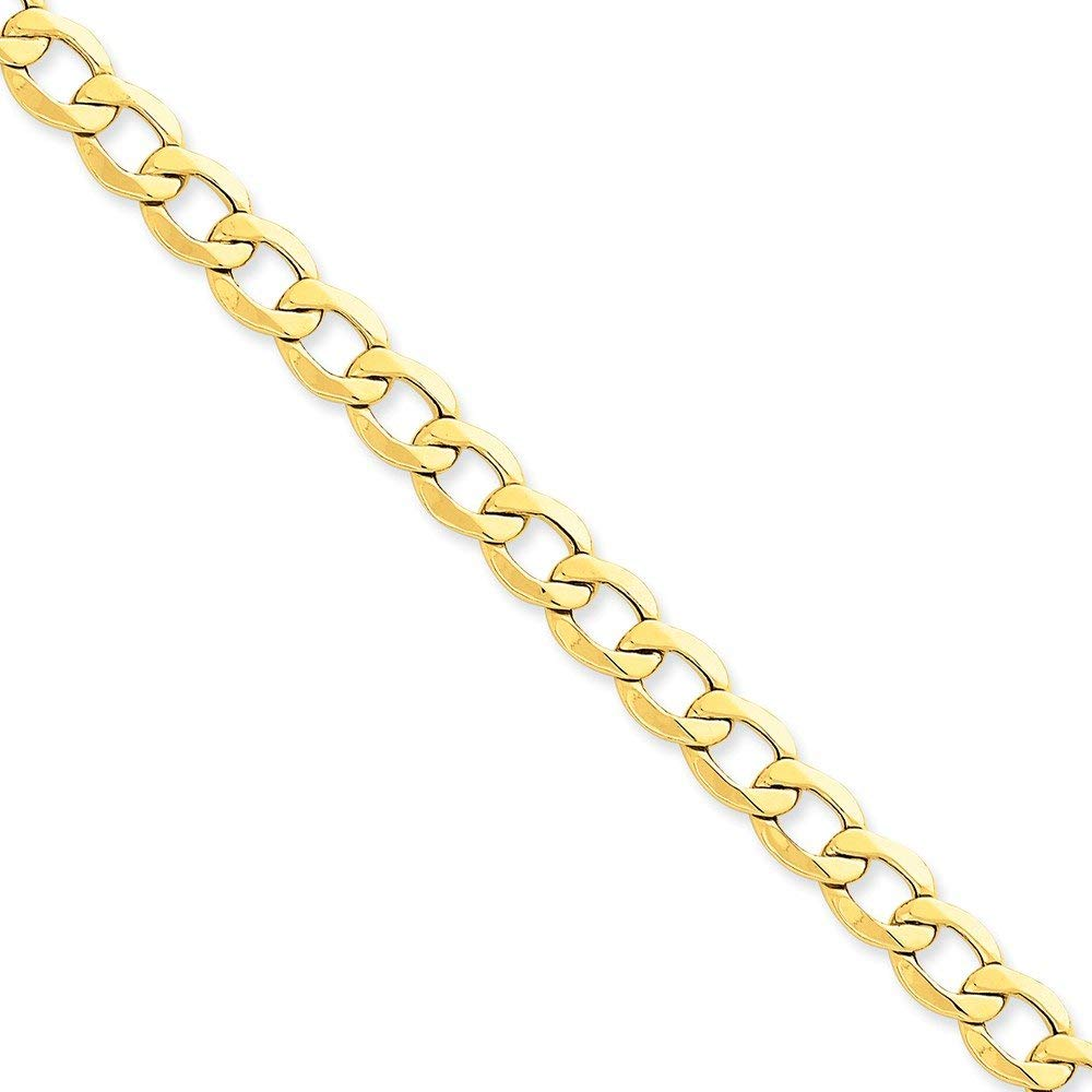 Top 10 Jewelry Gift 14k 8.0mm Semi-Solid Curb Link Chain