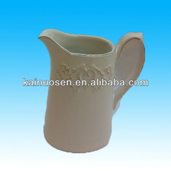 Hotsale white ceramic milk jug
