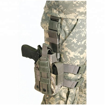 Drop Adjustable Tactical Right Leg Pistol Holster