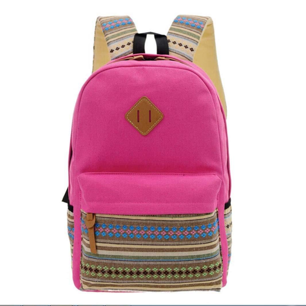 Unisex Fashion Rucksack Shoulder Bookbags School Bag Satchel Travel Canvas Backpack