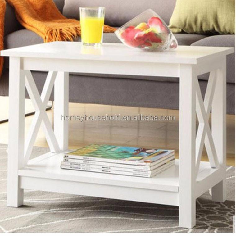 Casa mobili soggiorno in legno bianco nero KD MDF piazza tavolini ...