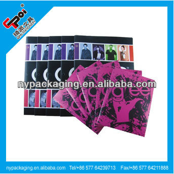 Printed 3 holes binder folder with 2 pockets,file folder with 3 holes