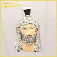 new design ice out silver 925 pendant jewelry jesus piece