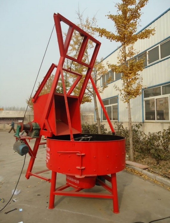 Jq350 Best Small Cheap Stationary Commercial Industrial Electric Concrete Cement Pan Mixer
