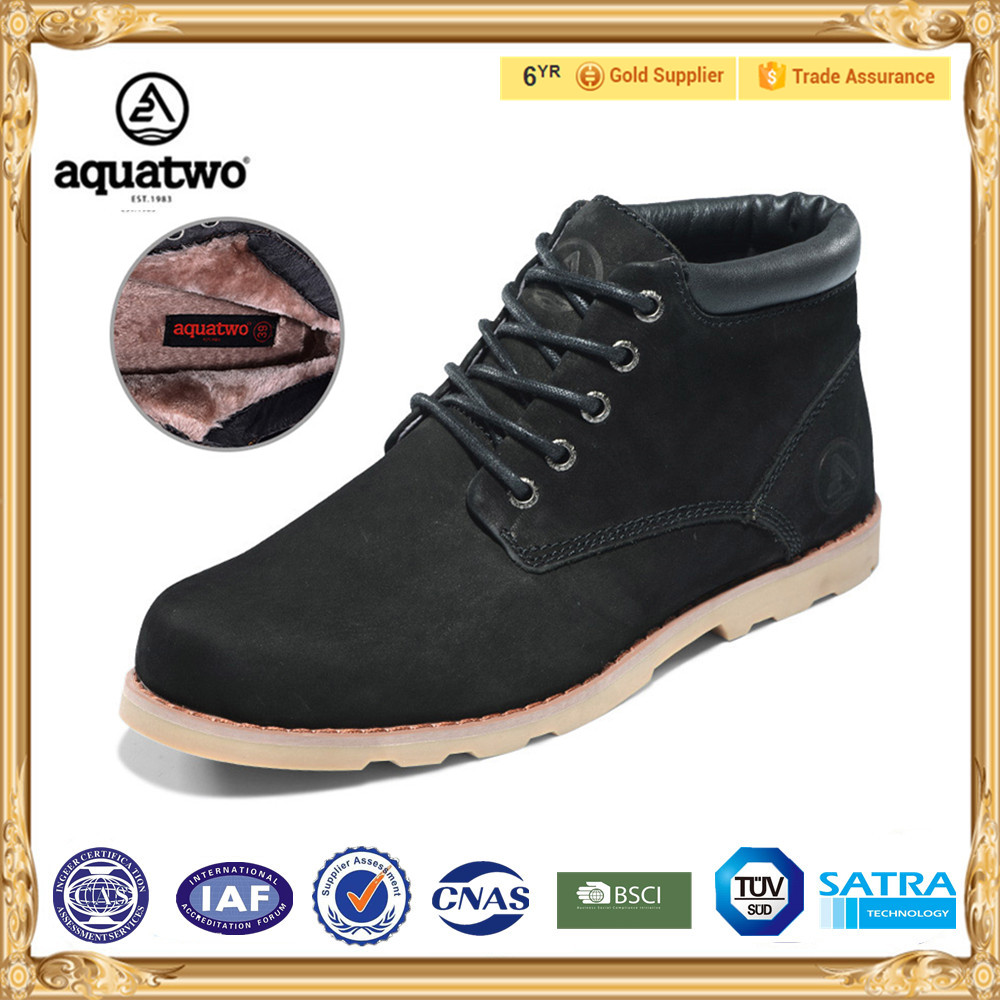 2017 Wholesale Modern Style AQUATWO Brand Mens Leather Dress Boots with Ankle Height