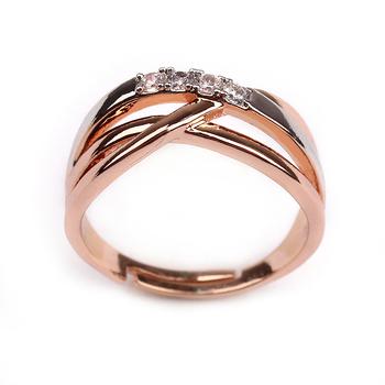 18k Rose Gold Wedding Band Ring Cross Over 2 Tone Ring Buy Three