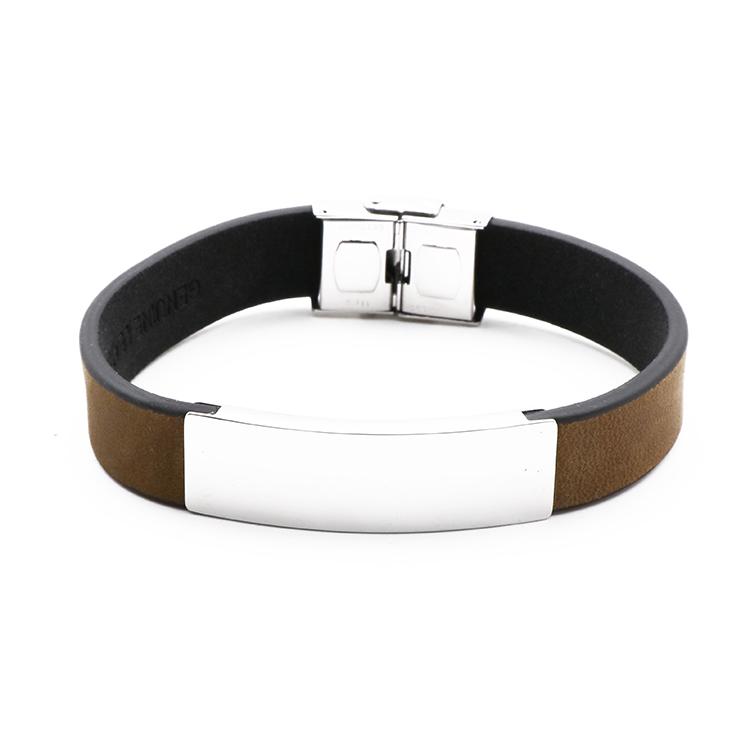 1faf4877e067 De cuero pulsera de diseño personalizado de pulsera de cuero marrón ...