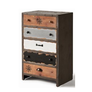 Industrial Storage Custom Wooden Multi 5 Wood Drawer Cabinet