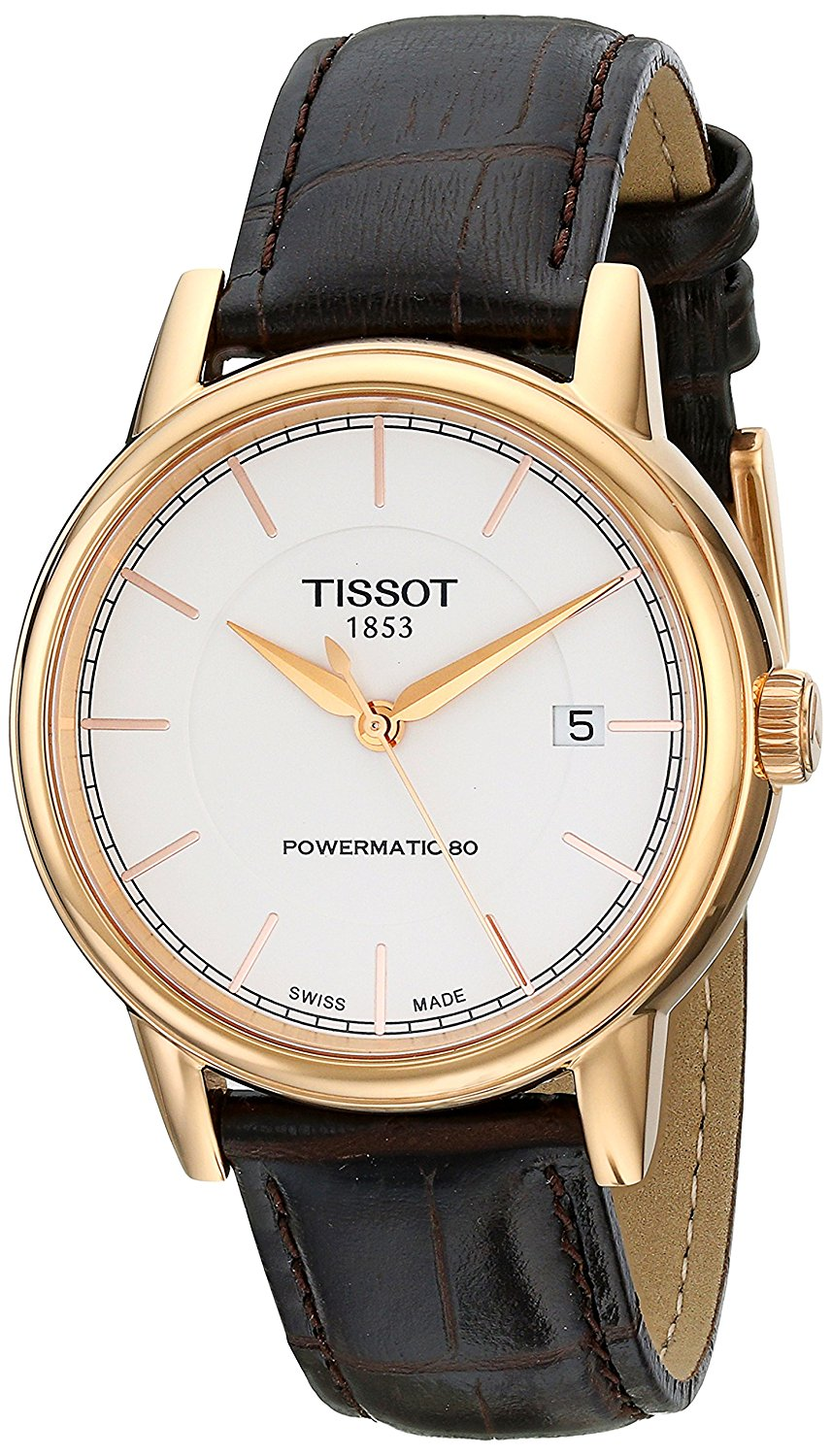 ccb08d7f0d2 Get Quotations · Tissot Men s T0854073601100 T Classic Analog Display Swiss  Automatic Brown Watch
