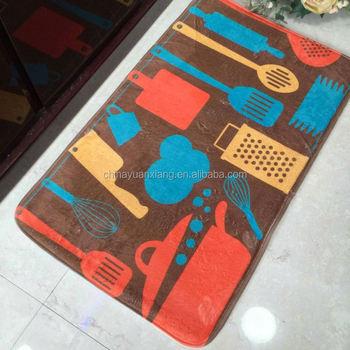 Dye Sublimation Printing Kitchen Rug Mats With Bsci Walmart Oeko Tex