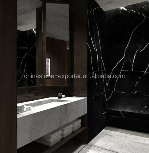 Black Marble Tiles For Bathroom Wall