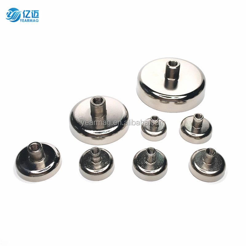 Rare Earth Permanent Neodymium Pot Magnet with Internal Thread for Industrial Using Holding Fastening Mounting