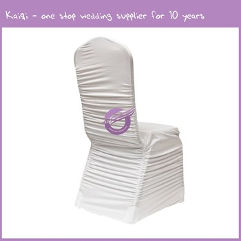 Marvelous Yt09513 White Wedding Decor Wholesale Ruched Spandex Chair Covers View Ruched Spandex Chair Covers Kaiqi Used Chair Covers For Sale Product Details Machost Co Dining Chair Design Ideas Machostcouk