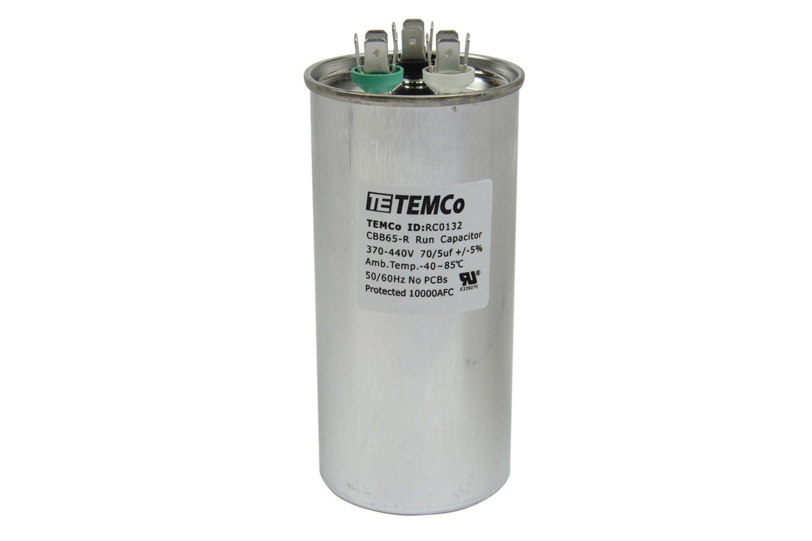 Cheap Electric Motor Capacitor Wiring Diagram Find Marathon Motors Diagrams Get Quotations Temco Dual Run Rc0132 70 5 Mfd 370 V 440 Vac Volt