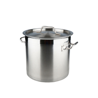 UKW Kitchenwares Large Industrial Collapsible Cooking Pots Parini Cookware Soup Stainless Steel Stock Pot