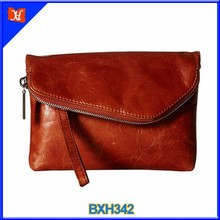 2016 fashion look genuine leather top quality women envelope clutch bags