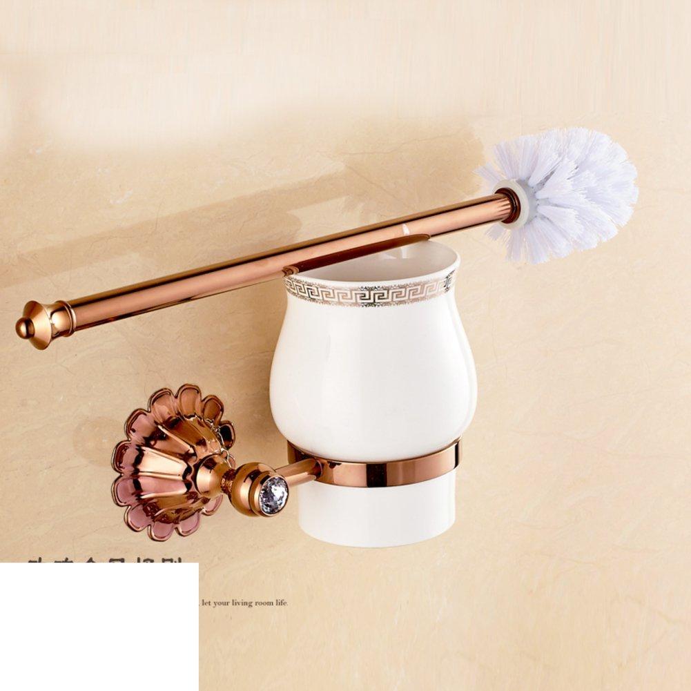 All copper metal pendant wall-mounted/European retro black bronze toilet brush holder suit/Black antique gilded toilet brush-D