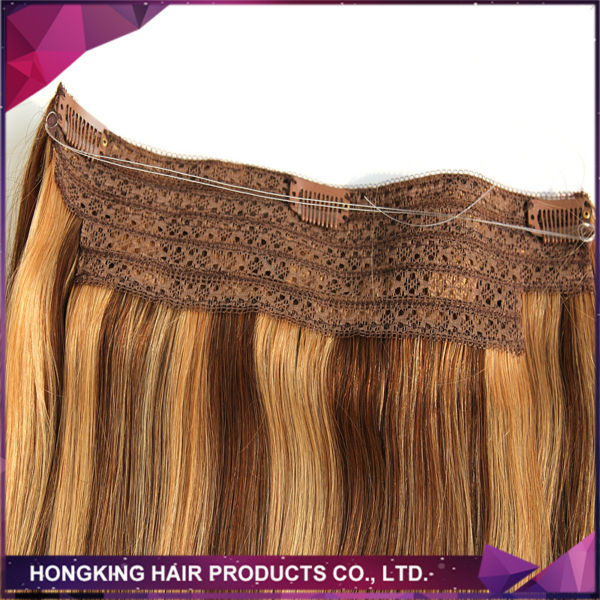 Fish Wire One Piece Clip In Hair Extension 100 Human Remy Indian