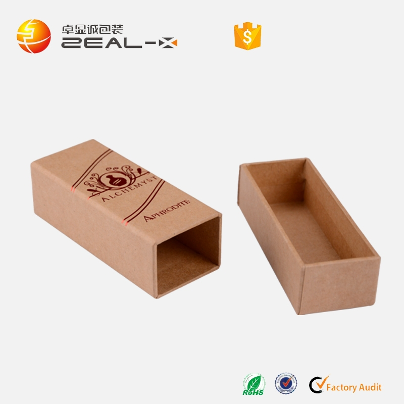 Alibaba China wholesale rectangle hot stamping kraft paper silver necklaces packging box