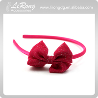 Rose Red Plastic Headband with Rosette