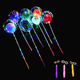 "Wholesale 18"" Colorful LED Light Round Shape Clear Bobo Balloon Bubble Balloon With Stick"