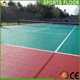 2017 hot selling high quality portable removable temporary outdoor tennis court interlocking sports flooring tile mat surface