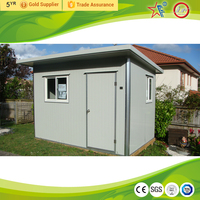 Asphalt shingle roof ,metal decoration panel prefabricated garden house/tool house/storage/guard house/bungalow