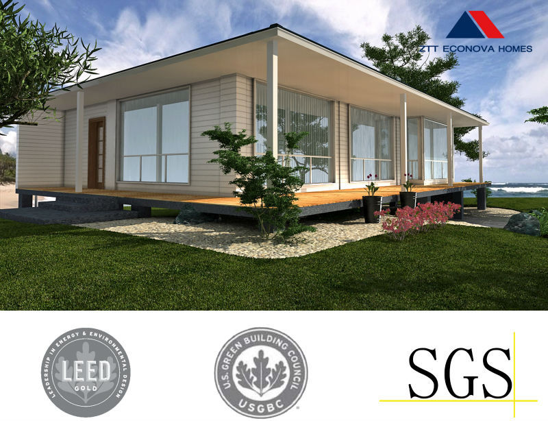 Natural prefabricated house model comfortable living premade house